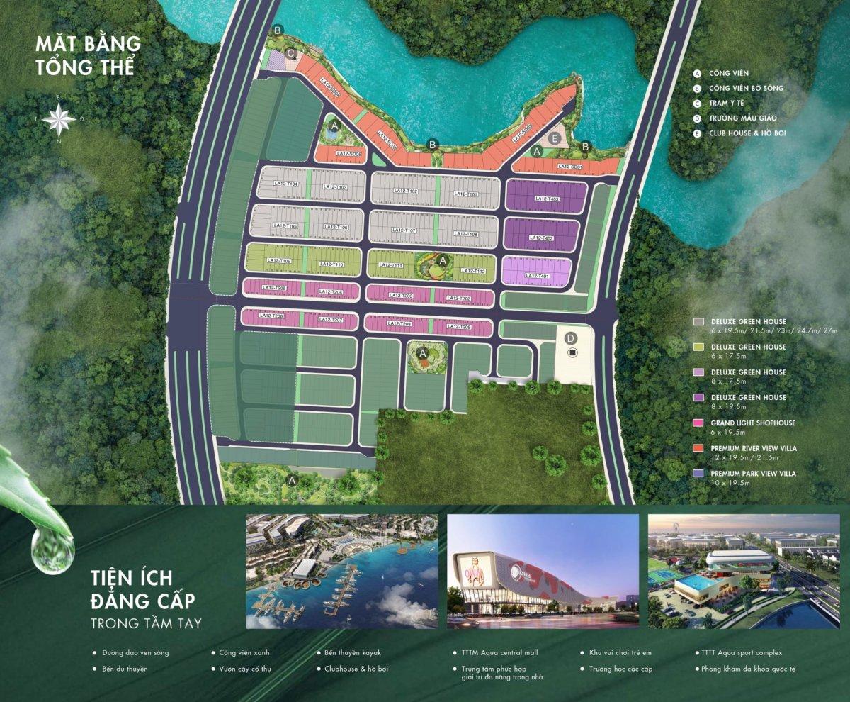 mặt bằng phân lô chi tiết the river park 1 aqua city