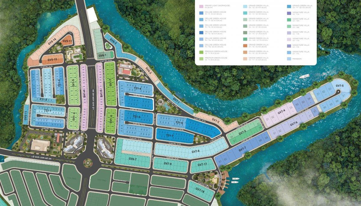 mặt bằng phân lô chi tiết the stella aqua city