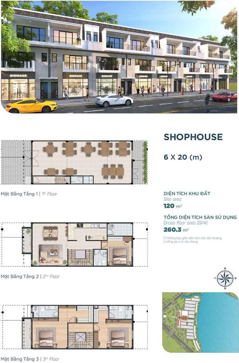 thiết kế shophouse the elite1 nhà phố 6x20