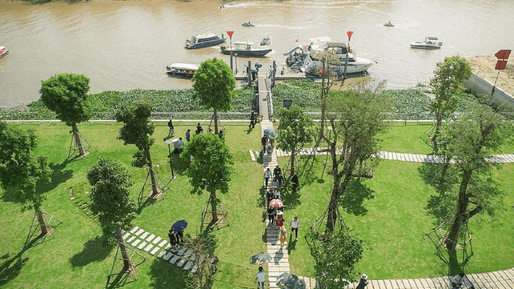bến thuyền đưa đón khách tại aqua city