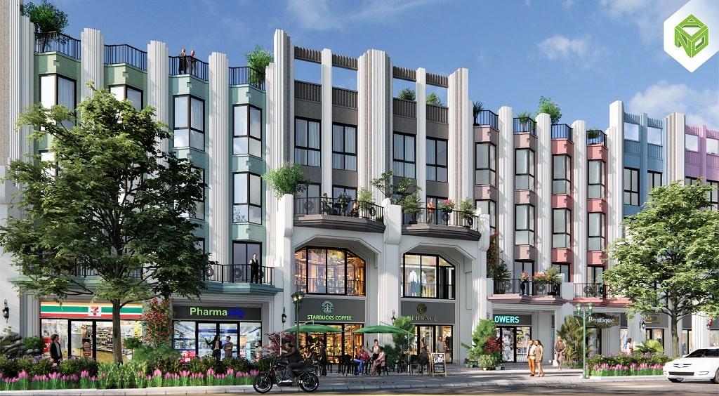 phối cảnh thiết kế Shophouse Art Deco Sun Harbor 1