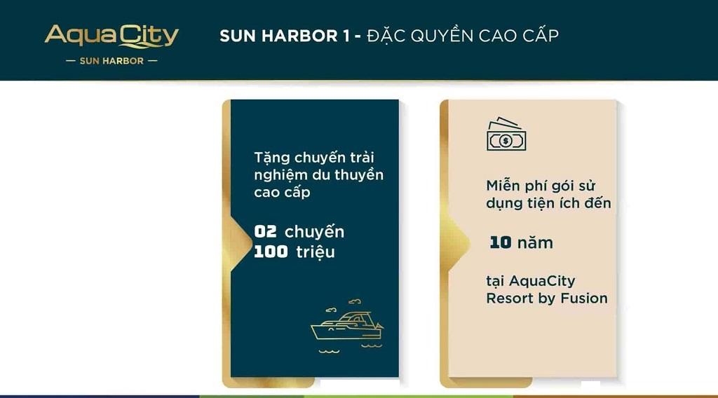 Ưu đãi thêm Chương Trình bán Hàng Sun Harbor 1 Aqua City